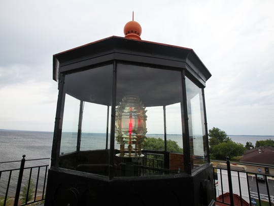 A fourth order Fresnel lens sits at the top of the