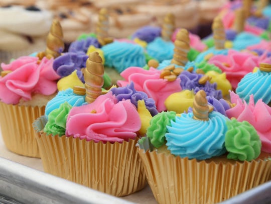 The fun unicorn cupcakes from Mid-Hudson Cakes based