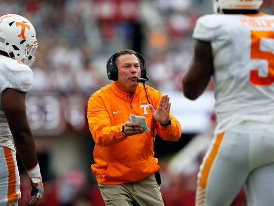 With losses in three straight games, coach Butch Jones is facing heat from the Vols' fan base.