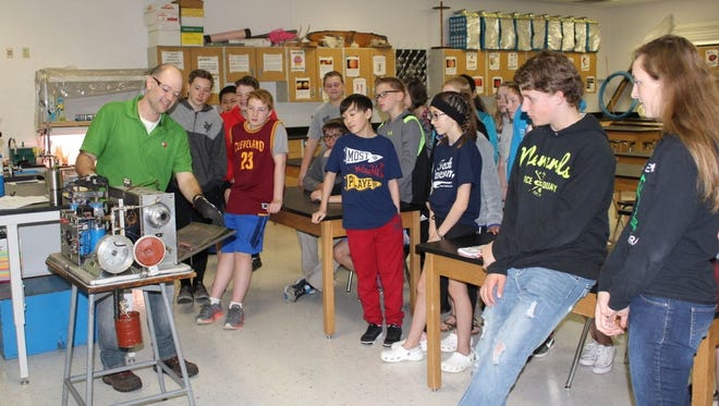 D.C. Everest Middle School students learn about STEAM job skills.