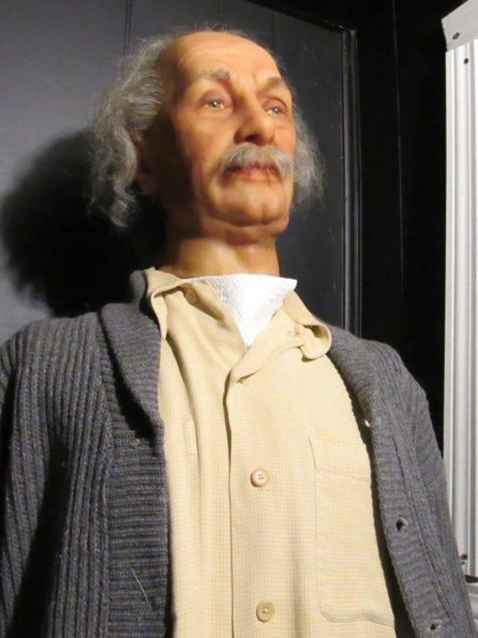 Einstein wax figure