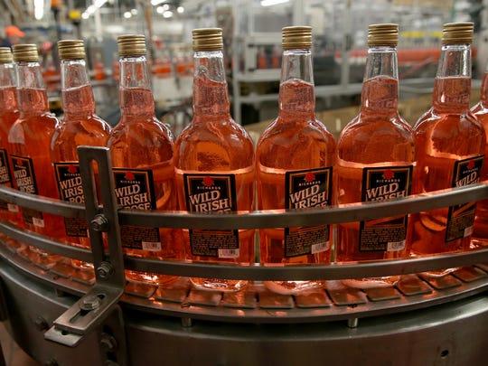 Wild Irish Rose rolls of the line at Constellation Brands, Canandaigua Wines.