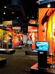NCAA Hall of Fame exhibit area.