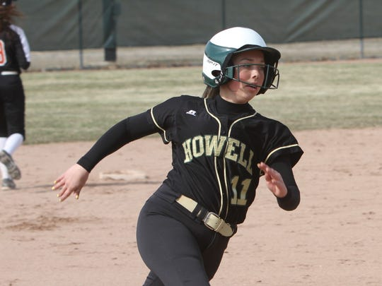 Sydney Pezzoni and her Howell softball teammates will