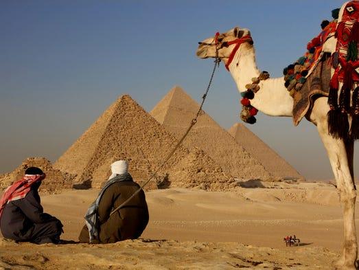 The Giza pyramid complex near Cairo.