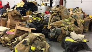 More than a dozen fire departments throughout Southeast Michigan donated gear to the Raber Fire Department in the Upper Peninsula.