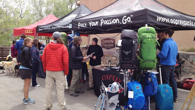 A variety of vendors were on hand Saturday along the Big Ditch as part of the Continental Divide Trails Trails Day celebration in Silver City.