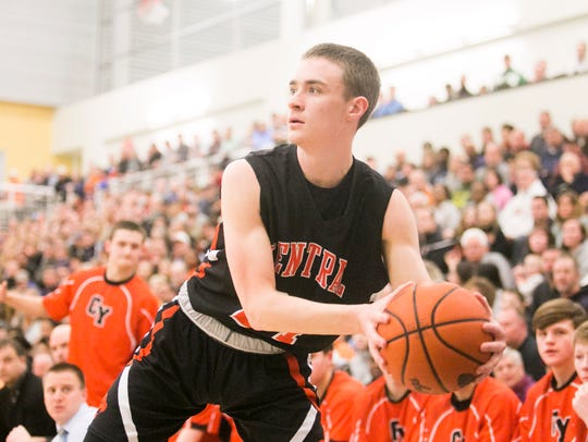 Central York's Landyn Ray scored 19 points on Tuesday