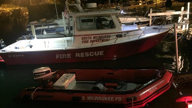 The South Milwaukee Fire Department utilized its rescue boat to save an exhausted swimmer in Lake Michigan.