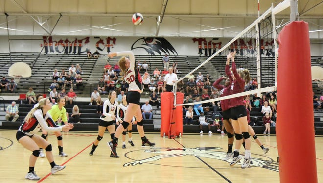 Crockett County defeated South Side in five sets at South Side High School in Jackson, Tenn., on Thursday, Sept. 8, 2016.
