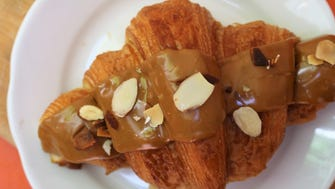 The cafe and patisserie is offering an Espresso Croissant with coffee cream inside for April.