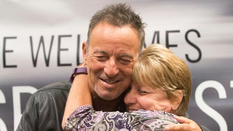 Bruce Springsteen greets fans at the Barnes and Noble bookstore in Freehold to promote the release of his new book—September 27, 2016-Freehold, NJ.-Staff photographer/Bob Bielk/Asbury Park Press