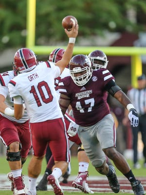 Mississippi State's A.J. Jefferson earned SEC Defensive Lineman of the Week on Monday.