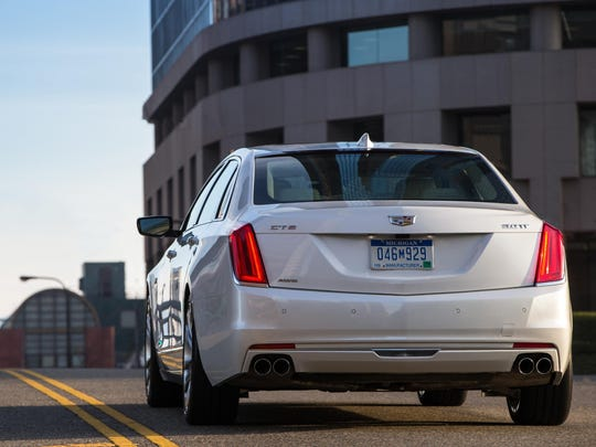 The CT6's front shines but the view from behind is undistinguished.