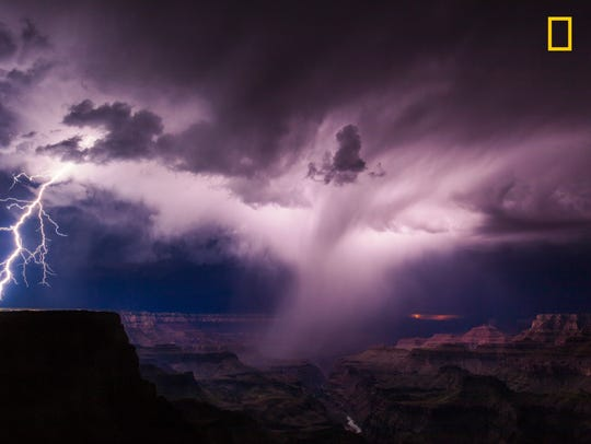 "I ""have tried and failed so many times trying to get lightning after dark at the Grand Canyon. ... It's a 3.5-hour trip one way to just sit in a spot and wait and wait and wait and not only hope for a storm to pop up, but for it to be out over the canyon and also to not rain on you. So many things have to come together for it to work out. And on this night, it did."""