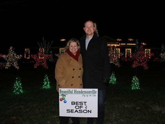 Brandon and Megan Gill's display on Lake Terrace Drive