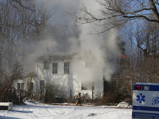 Multiple agencies were on the scene of a house fire