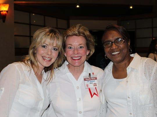 Georgia Flook, Croquet Classic Chief Claudia Oliver, Gloria Millender at Croquet Classic.