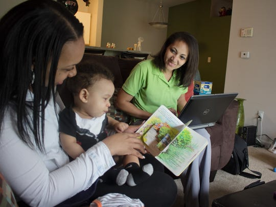 Goodwill of Central Indiana would like to expand its Nurse-Family Partnership program, which connects nurses like Michelle Washington with moms like Darnee Thompson.