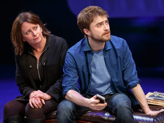 Rachel Dratch, with Daniel Radcliffe, juggles several