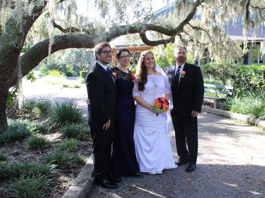 Lauren Sugg with (from left) brother Aaron Martinez,