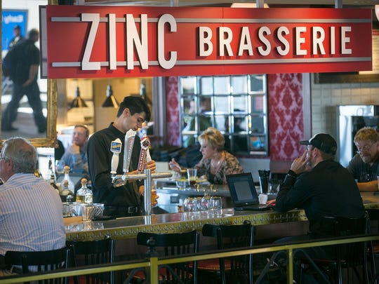 Michael Schennum/The Republic Zinc Brasserie at Phoenix Sky Harbor International Airport's Terminal 4.