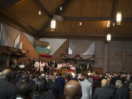 Mourners filled Springfield Baptist Church in Greenville on Friday to remember former County Councilwoman Lottie Gibson.