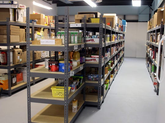 The aisles at the Perinton Food Shelf's new location are much wider and easier to maneuver through.
