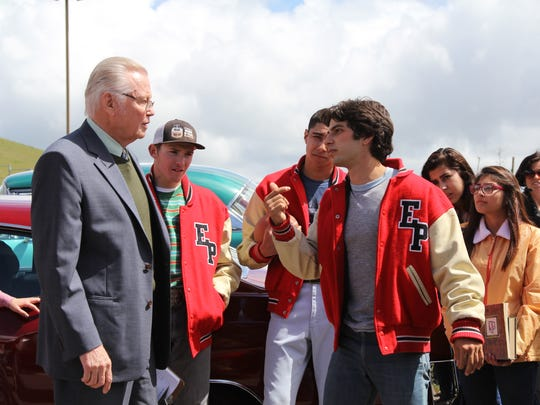 """George Kosturos (right), acts along side Jon Voight in the upcoming film """"American Wrestler: The Wizard."""" Kosturos is a Palm Desert graduate."""