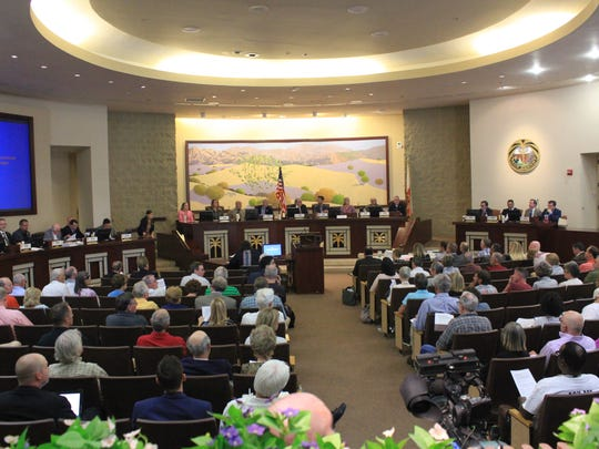CVAG held its special meeting Monday inside the Palm Desert City Council chambers.