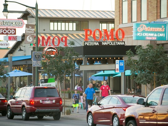 Downtown Gilbert's historic district is a great place to dine and shop.