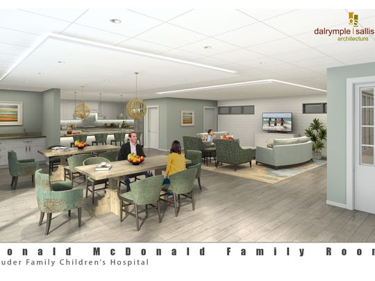 Officials unveiled the rendering of the Ronald McDonald Family Room for The Studer Family Children's Hospital at Sacred Heart in Pensacola on June 6, 2017.