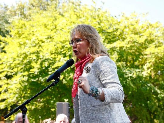Rep. Gabby Giffords speaks in Philadelphia on July