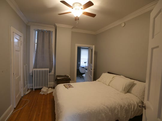 Sarah Kingsley's single bedroom in her new University