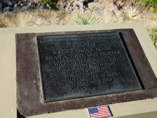 The memorial for slain Border Patrol Agent Brian Terry