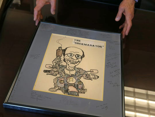 A artist's cartoon rendering of Assistant US Attorney