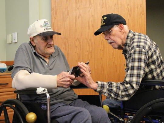 Ed Shapley (left) and his friend Douglas Webb (right)