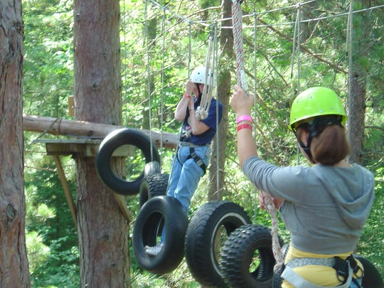 Girl Scouts take part in outdoor and high adventure activities where girls take adult-supported risks.