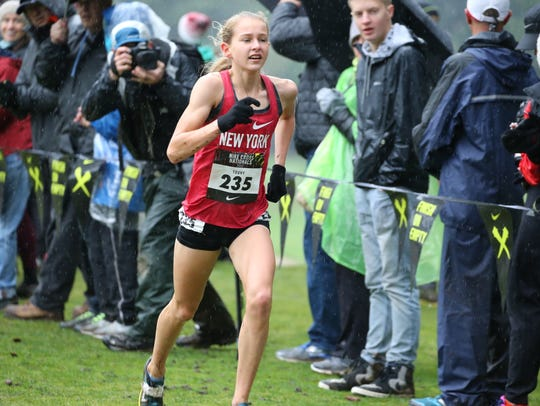 North Rockland sophomore Katelyn Tuohy runs the course
