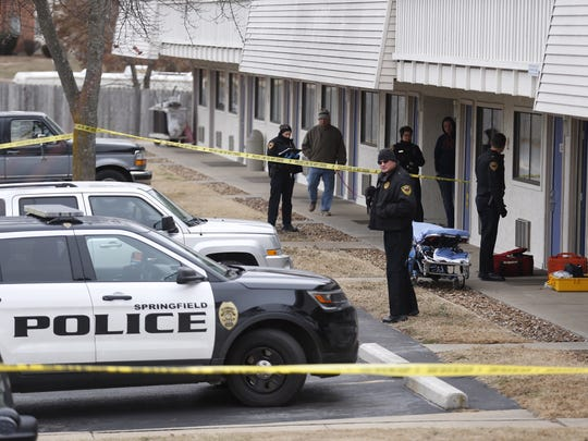 Springfield police respond to a disturbance at a Motel
