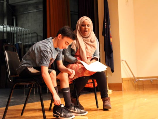East High School freshmen Keith Hurn and Tahaara Gazali