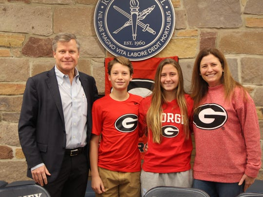 The Boyan Family on signing day from left to right. Thomas, Thomas, Abigail, Leann)