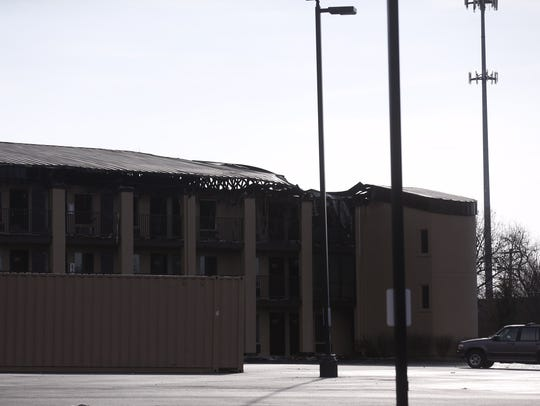 Damage at the Welcome Inn Nightly after a Feb. 14 fire.