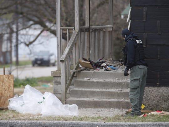 Police respond to an area near Kansas Expressway and