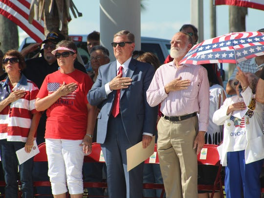 Community members including Corpus Christi Mayor Joe McComb attended the Memorial Day ceremony on Monday, May 28, 2018.