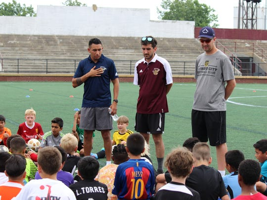 Detroit City FC/PAL Select Program coordinator Javi