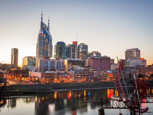 Nashville Skyline at Sunset