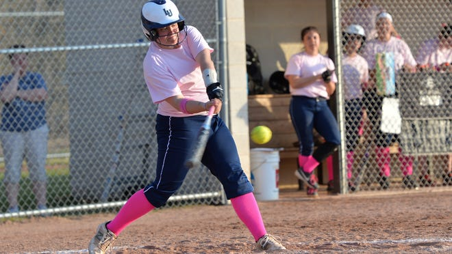 Lawrence shortstop Amanda Jaskolski has hit a school-record 12 home runs this season.