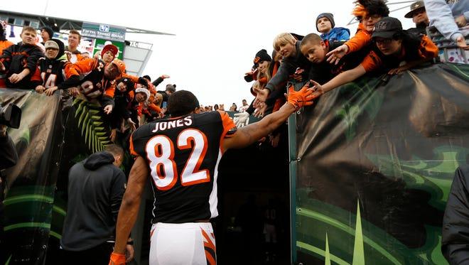 Marvin Jones has a career average of 12.9 yards per catch.