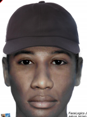 Composite of what the alleged robber may look like.